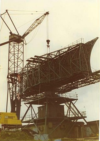 Crane in position