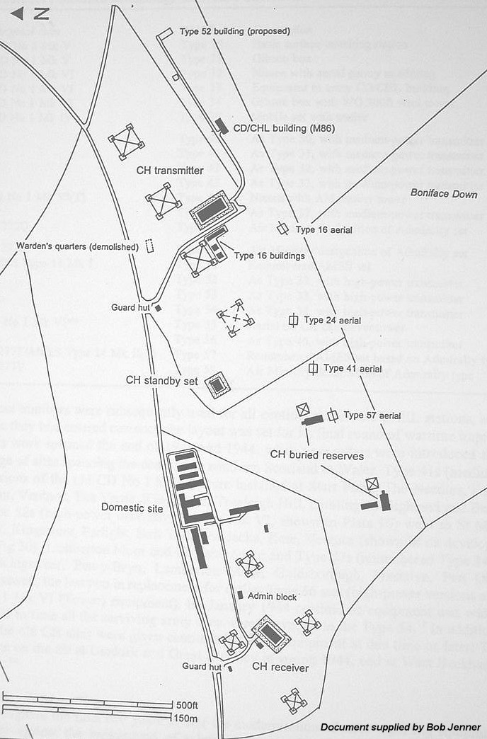 Plan of the site 1944