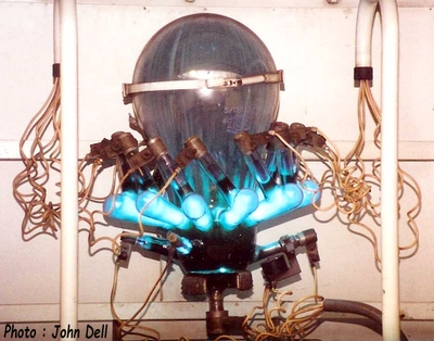 Mercury arc rectifier, click for larger picture.